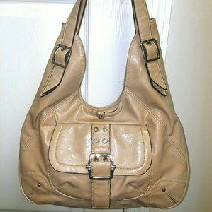 FRANCO SARTO Vintage Hobo Bone Shoulder Bag Purse